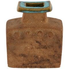 Curt Magnus Addin Stoneware Vase with Aqua-Glazed Top, circa 1970s