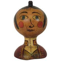1920s Hand Painted Folk Art Gentleman