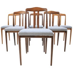 Set of Six Midcentury Dining Chairs in Style of Johannes Andersen, Denmark 1960s