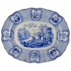 Adams & Sons Staffordshire Blue and White Transferware 'Bologna' Platter
