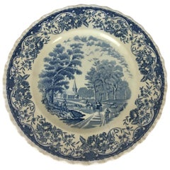 Collectible Blue and White Royal Tudor Ware England Plate