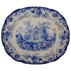 Joseph Heath Staffordshire Blue and White Transferware 'Persian' Platter
