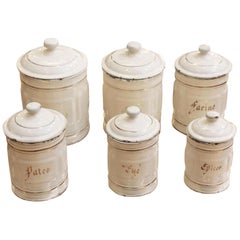 1970s Set of Six French Nesting Canisters for the Kitchen