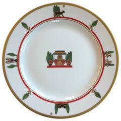 La Maison de Louis Cartier Limoges Dessert Plates, 1980s