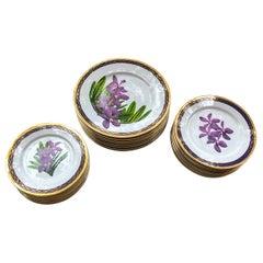 Purple Vanda Orchid China Service for 8