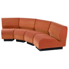 Don Chadwick Modular Curved Wedge Sectional Sofa Couch for Herman Miller