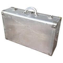 Vintage Aluminum Suitcase by Cheney of London
