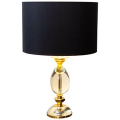 Table Lamp Signed by Gabriella Crespi, Italy, circa 1970