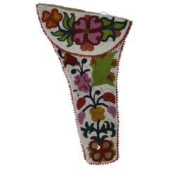 Old Native American Indian Chippewa Beaded Pistol Holster