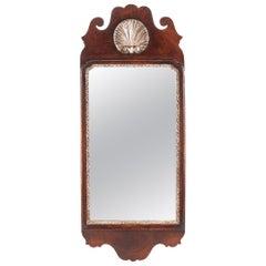 Walnut Fretwork Wall Mirror, circa 1900