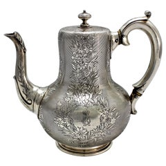 Robert Garrard Coffee Pot for Grand Duchess Olga Konstantinovna Marriage, 1867