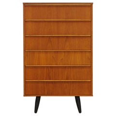 Teak Chest of Drawers Vintage Danish Design Retro