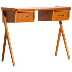 1950s, Teak Swedish Side Table or Ladies Desk