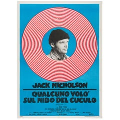 One Flew over the Cuckoo's Nest Original Italian Film Poster, 1970s