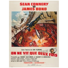You Only Live Twice Original French Film/ Movie, Poster, Frank McCarthy, 1967
