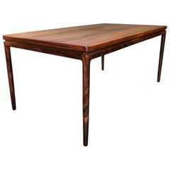 Large Midcentury Danish Rosewood Dining Table by Johannes Andersen