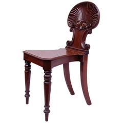 Regency Style Hall-Chair, Shell-Back, Gillows Model, Late 19th Century