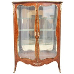 19th Century French Kingwood and Ormolu Display Cabinet