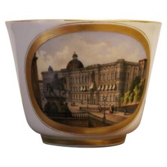 Berlin Porcelain Cup Depicting the Palace of Berlin, 19th Century