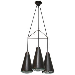 Max Ingrand for Fontana Arte No. 2126 Three-Cone Chandelier