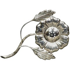Floral Inspired Judaica Silver Spice Holder / Besamim, Early 20th Century