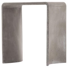 Tadao 40 Concrete Contemporary Stool & Side Table, 100% Handcrafted in Italy