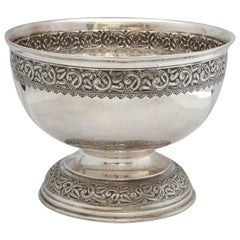 Arts and Crafts Sterling Silver Celtic Style Centerpiece Bowl by Liberty and Co.