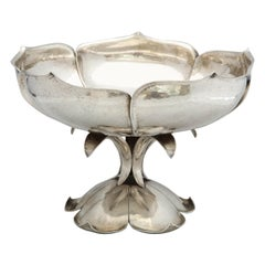 Arts & Crafts Sterling Silver Lotus-Form Centerpiece Bowl by The Cellini Shop