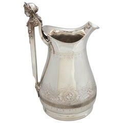 Large Sterling Silver Neoclassical Pitcher by Gorham