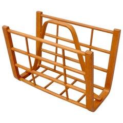 Alvar Aalto attributed bent wood magazine stand rack