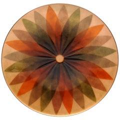 Annemarie Davidson Abstract Copper Enamel Decorative Plate California Modern
