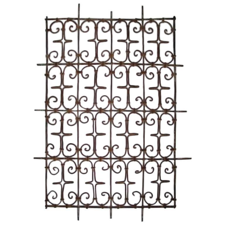 Five Islamic Wrought Iron Wall Decorations or Sculptures