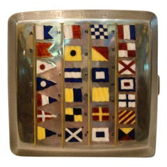 Marine Signal Flag Silver Enamel Cigarette Case by Benzie Cowes