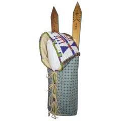 Native American Indian Sioux Beaded Dolls Cradle Board