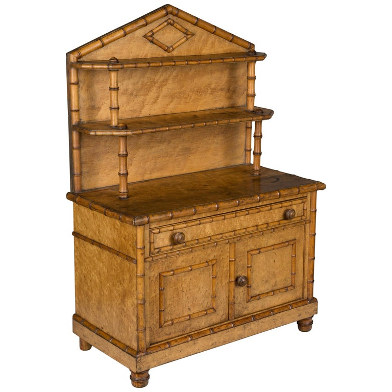 19th Century French Miniature Buffet For Sale