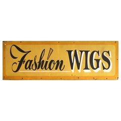 "Vintage Sign ""Fashion Wigs"""