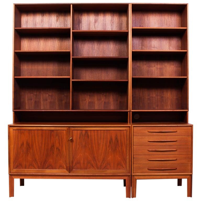 Midcentury Teak Bookcases by Alf Svensson For Sale