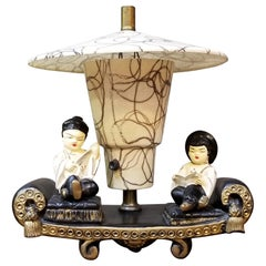1950s Asian Figures TV Lamp