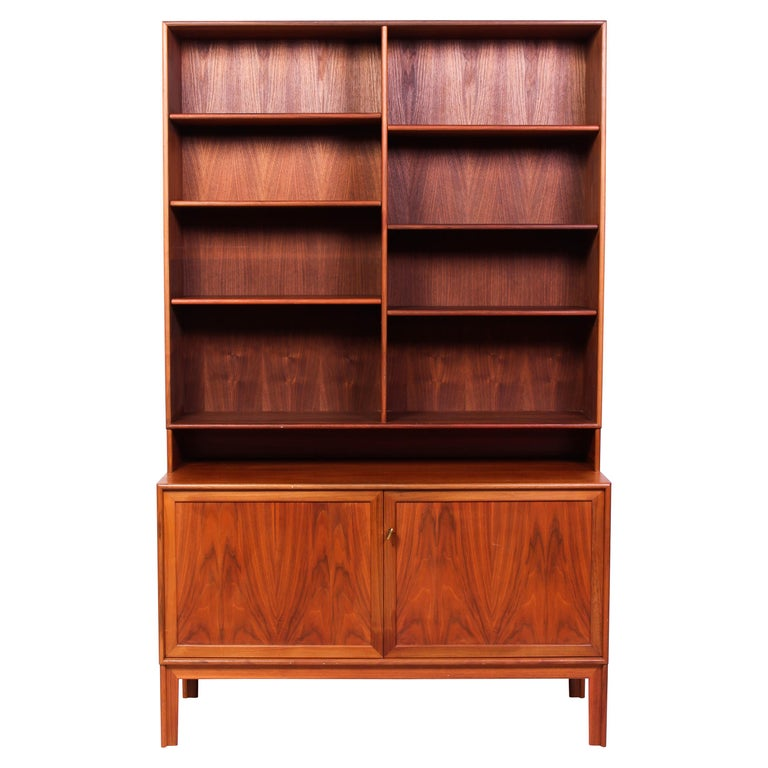 Teak Bookcase by Alf Svensson for Bjästa, 1950s For Sale