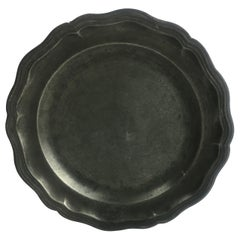 Late 18th-Early 19th Century French Pewter Plate