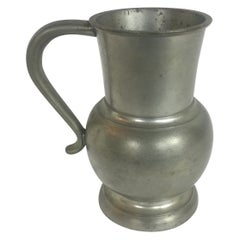 French Pewter Flagon or Tankard Stamped, 20th Century