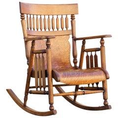 Antique Craftsman Bentwood Rocking Chair