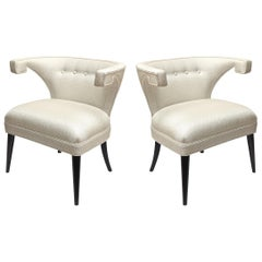 Pair of Tommi Parzinger Mid-Century Modern Side Chairs