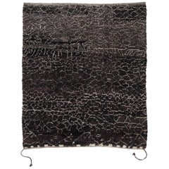 Brown Moroccan Berber Carpet Wool with Tassels Jan Kath Tourouk Reverse