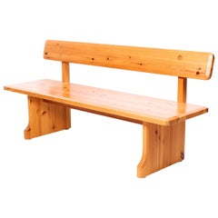 Midcentury Pine Bench by Karl Andersson and Söner