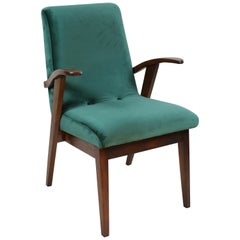 Puchala Armchair in Green Velvet from 1970s