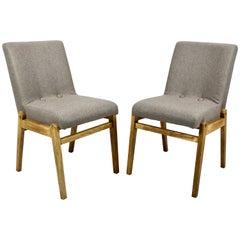 Set of Polish Velvet Aga Chairs from 1970s