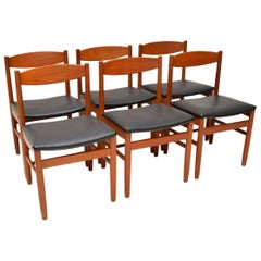 1960s Set of 6 Teak Vintage Dining Chairs by Robert Heritage for Archie Shine