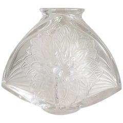 """Crystal Lalique Vase """"Dahlia"""""""