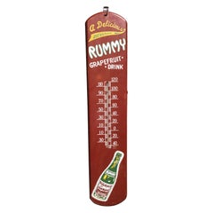 Rummy Grapefruit Soda Advertising Tin Thermometer Sign